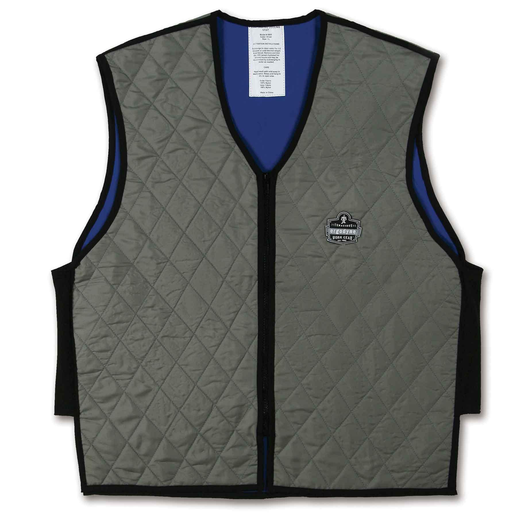 Ergodyne Chill-Its® 6665 Evaporative Cooling Vest, Gray, 2XL