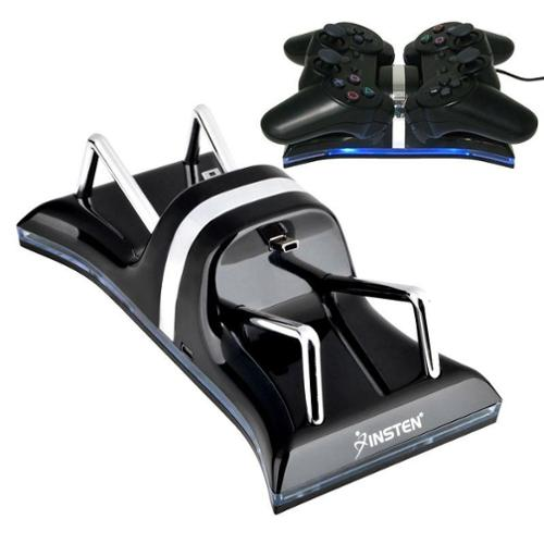 Insten Dual Charger Station For Sony PS3 Controller, Black