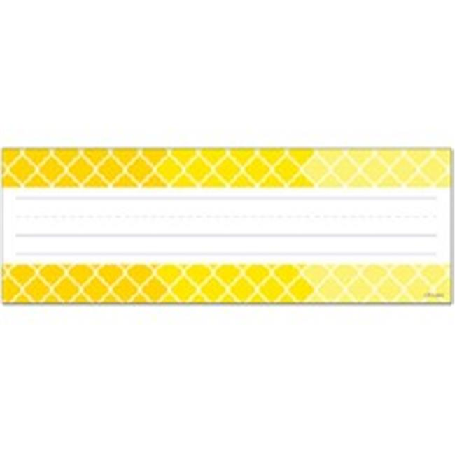 Ombre Yellow Moroccan Name Plates - image 1 of 1