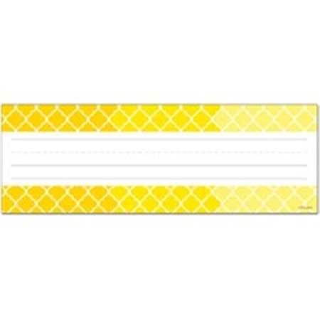 Creative Teaching Press CTP4455 Ombre Yellow Moroccan Name Plates - Teaching Supply Stores
