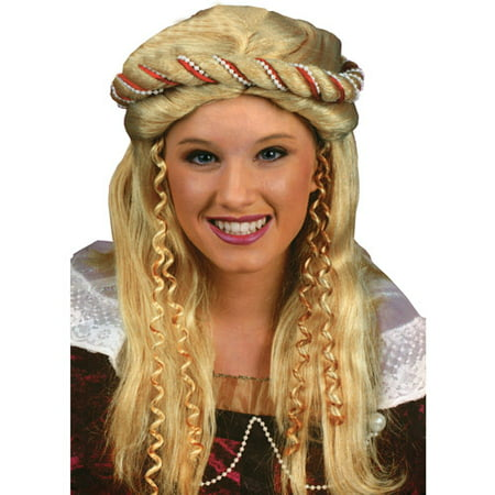 Renaissance Wig Adult Halloween Accessory - Long Straight Brown Wig Halloween