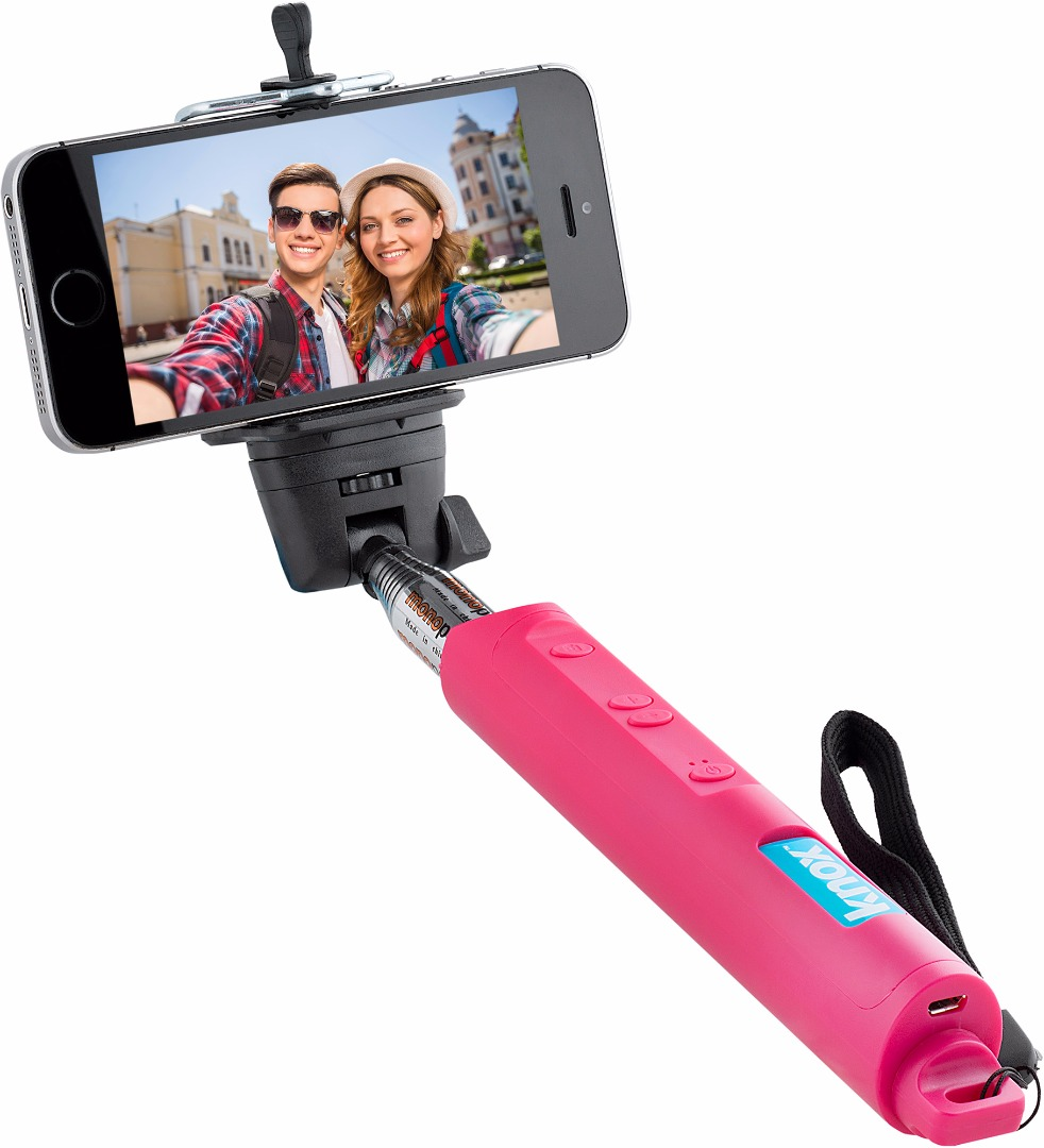 Knox Gear Bluetooth Selfie Stick w/ Zoom Function (Pink)