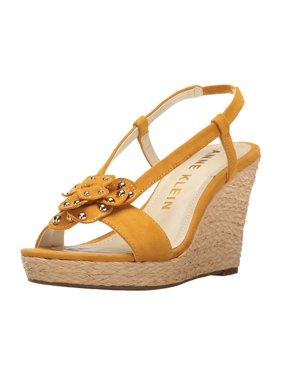 Anne Klein Womens Marigold Suede Round Toe Casual Platform Sandals