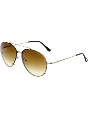 315ac9ded49 Product Image Tom Ford Dickon FT0527-28F-61 Gold Aviator Sunglasses