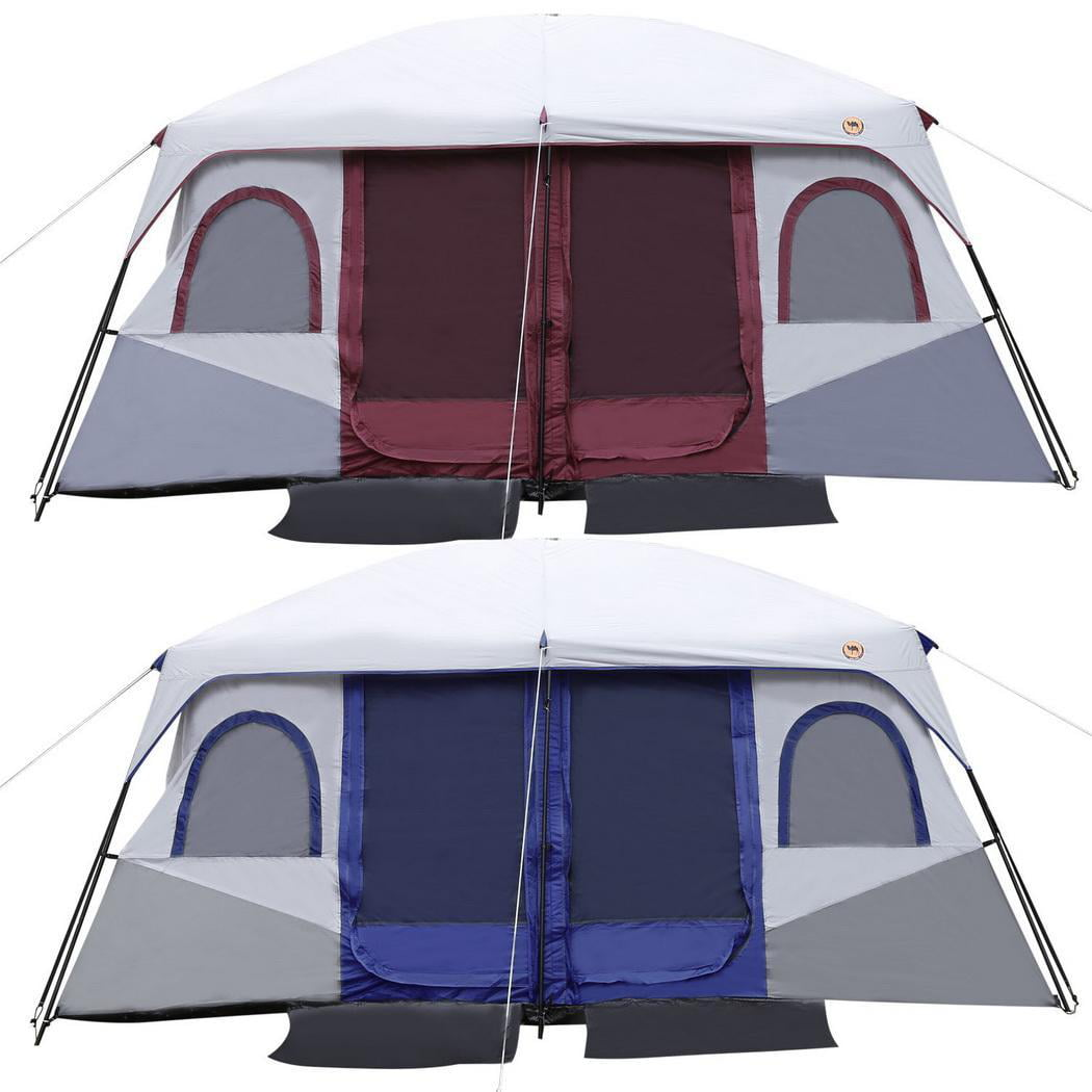 ANCHEER 8-10 Person Waterproof Family Camping Tent 2-Bedroom 1-Living Room, Dual Layer 210D... by