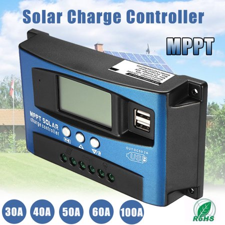 30-100A 12V/24V Solar Charge Panel Controller MPPT Auto Regulator Dual USB Battery Focus Tracking Intelligent LCD