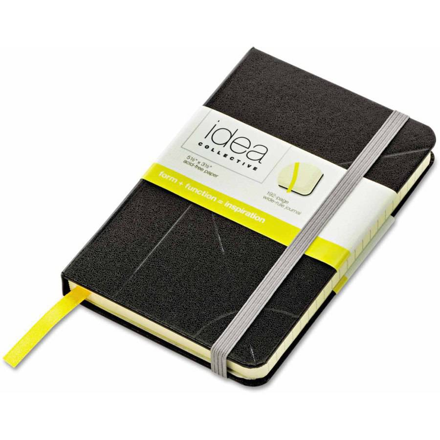 "TOPS Idea Collective Journal, Hard Cover, Side Binding, 5-1/2"" x 3-1/2"", Black"