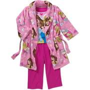 Toddler Girl Robe and Pajama 3-Piece Sleepwear Gift Set