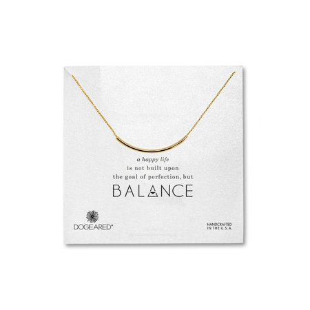 Dogeared Best Mom Necklace - Dogeared Gold Dipped Balance Tube Necklace