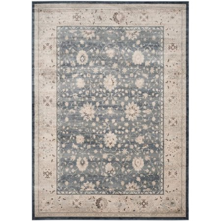 "Safavieh Vintage 5'1"" X 7'7"" Power Loomed Rug in Dark Gray and Cream - image 4 of 5"