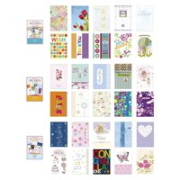 Assorted All Occasion Cards Box Set 30 Pack, Thinking of You, Blank, Thanks You, Congratulations & Birthday Greeting Cards Assortment in Bulk