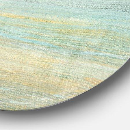 Designart 'Sunrise Boat I' Nautical & Coastal Metal Circle Wall Art - image 2 de 3