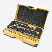 Spacio Innovations 057 836 16 0.25 in. Felo R-GO Stubby Metric Ergonic Ratchet Multi Tools Set - 36 Piece
