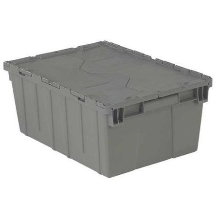 Orbis 50 lb Capacity, Attached Lid Container, Gray FP143