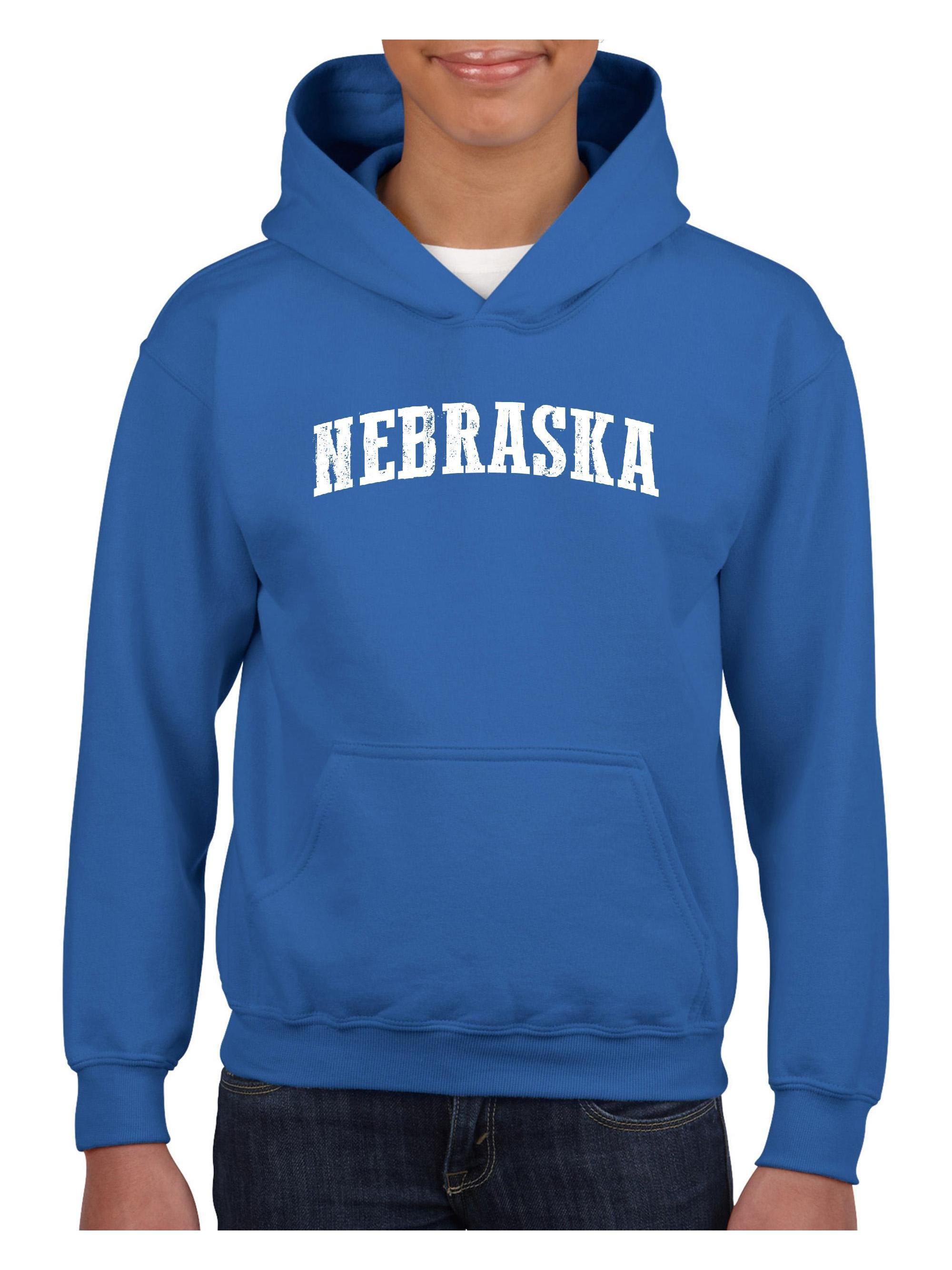 Nebraska State Flag Made in Nebraska Omaha Unisex Hoodie For Girls and Boys Youth Sweatshirt
