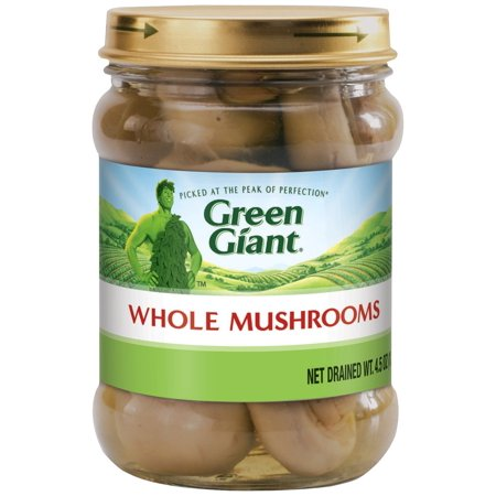 Green Giant Whole Mushrooms 4.5 Ounce