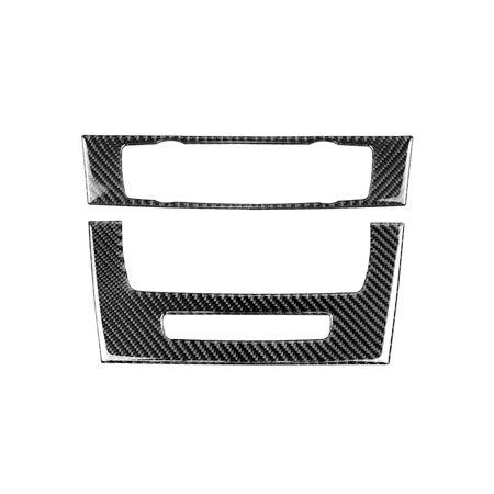 Carbon Fiber Strip Air Conditioning CD Control Panel Trim