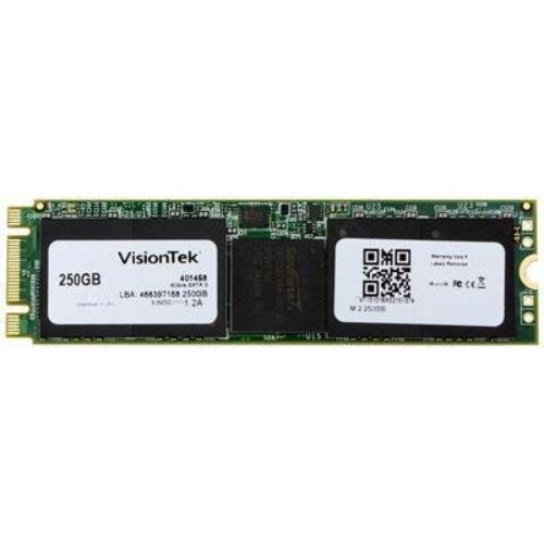 Visiontek 250 Gb Internal Solid State Drive - M.2 - 550 Mb/s Maximum Read Transfer Rate - 500 Mb/s Maximum Write Transfer Rate - Hot Pluggable - M.2 2280 - 256-bit Encryption Standard (900830)