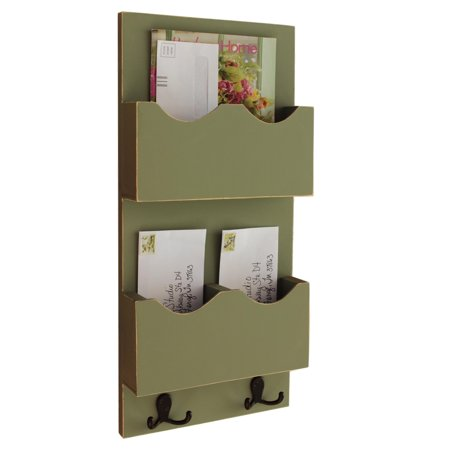 Tall Mail Organizer with two mail slots One Divided Slot and One Large