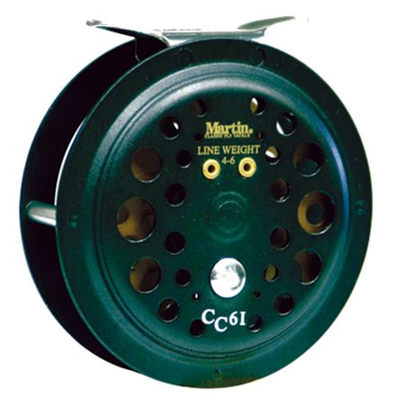 Martin Caddis Creek Fly Reel   20#/50yd bk 30yd/6wt