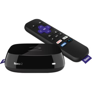 Roku 2 Network Audio/Video Player - Wireless LAN - Black - Dolby Digital 5.1 - Internet Streaming - 1080p - MP4, H.264, MKV - AAC, MP3 - JPEG, PNG - Ethernet - USB