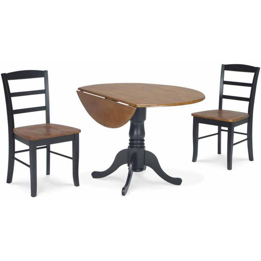 "42"" Dual Drop Leaf Table with 2 Madrid Chairs"