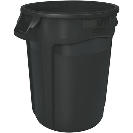 Rubbermaid Commercial Brute Waste Container Without (Waste Container Gray Lid)