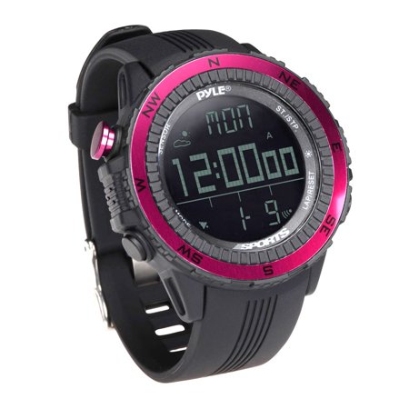 PYLE-SPORT PSWWM82PN - Digital Multifunction Active Sports Watch with Altimeter, Barometer, Chronograph, Compass, Count-Down Timer, Measuring & Weather Forecast Modes