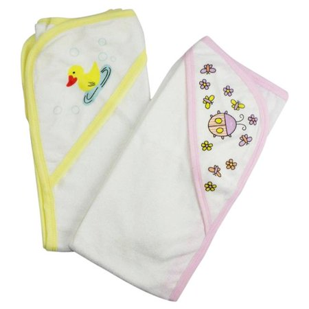 021-Pink-021-Yellow Infant Hooded Bath Towel, Pink & Yellow - Pack of 2 - image 1 de 1