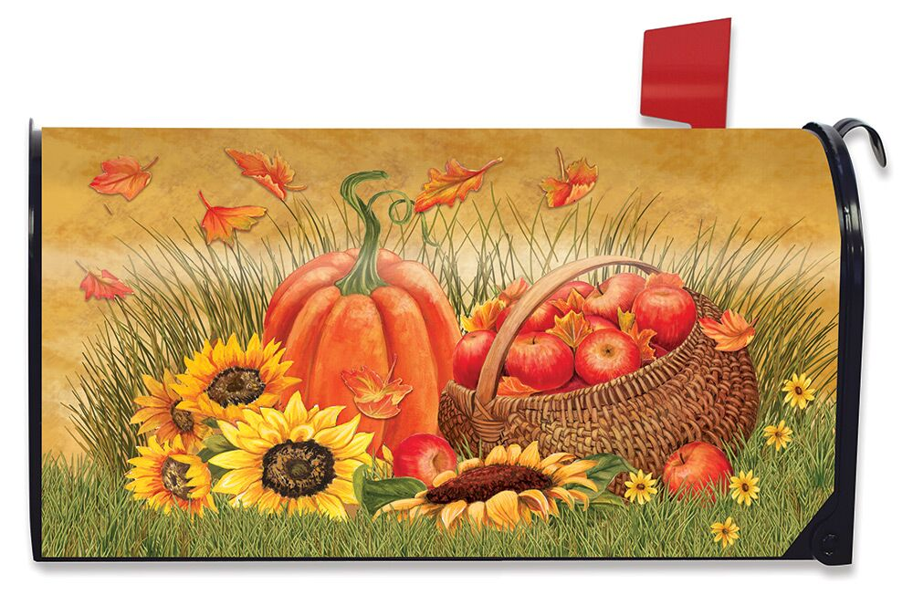 Briarwood Lane Pumpkin Patch Fall Magnetic Mailbox Cover Autumn Standard
