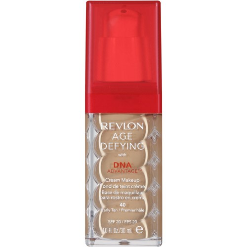 Revlon Age Defying with DNA Advantage Cream Makeup, 40 Early Tan, 1 fl oz