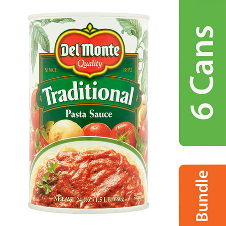 (6 Pack) Del Monte Traditional Pasta Sauce, 24 oz
