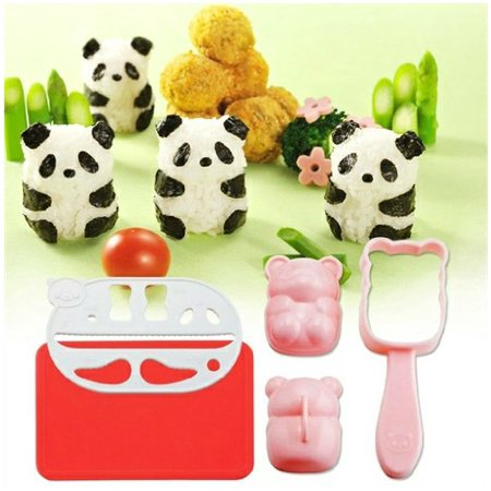 Panda Suits (Panda Accessories Rice Ball Mold Suit Creative Lovely Seaweed Sushi Material Tool Clamp Laver Embossing with Nori)