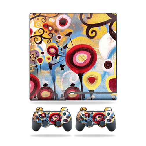 Skin Decal for Sony Playstation 3 PS3 Slim + 2 controllers sticker Nature Dream