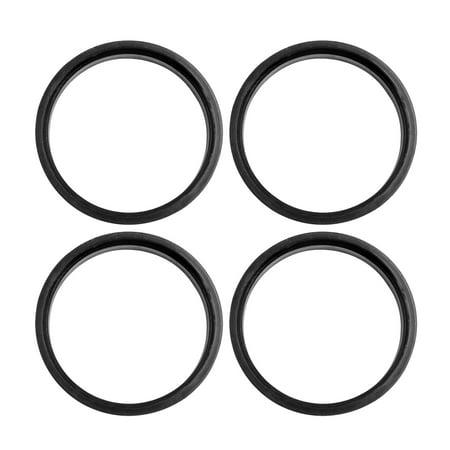 Car Hub Centric Rings Wheel Bore Center 73.1 to 66.6mm - 4pcs Black Plastic - image 5 of 5