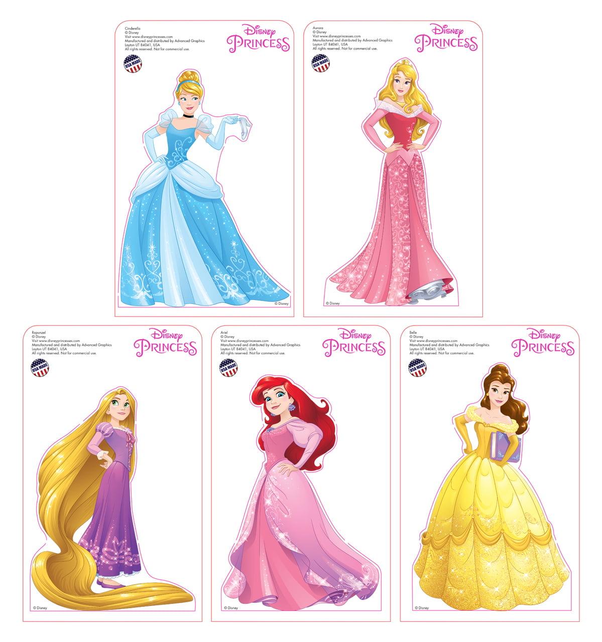 Mini Disney Princesses Standees 2016 (5 pack: Belle, Rapunzel, Cinderella, Aurora and Ariel)