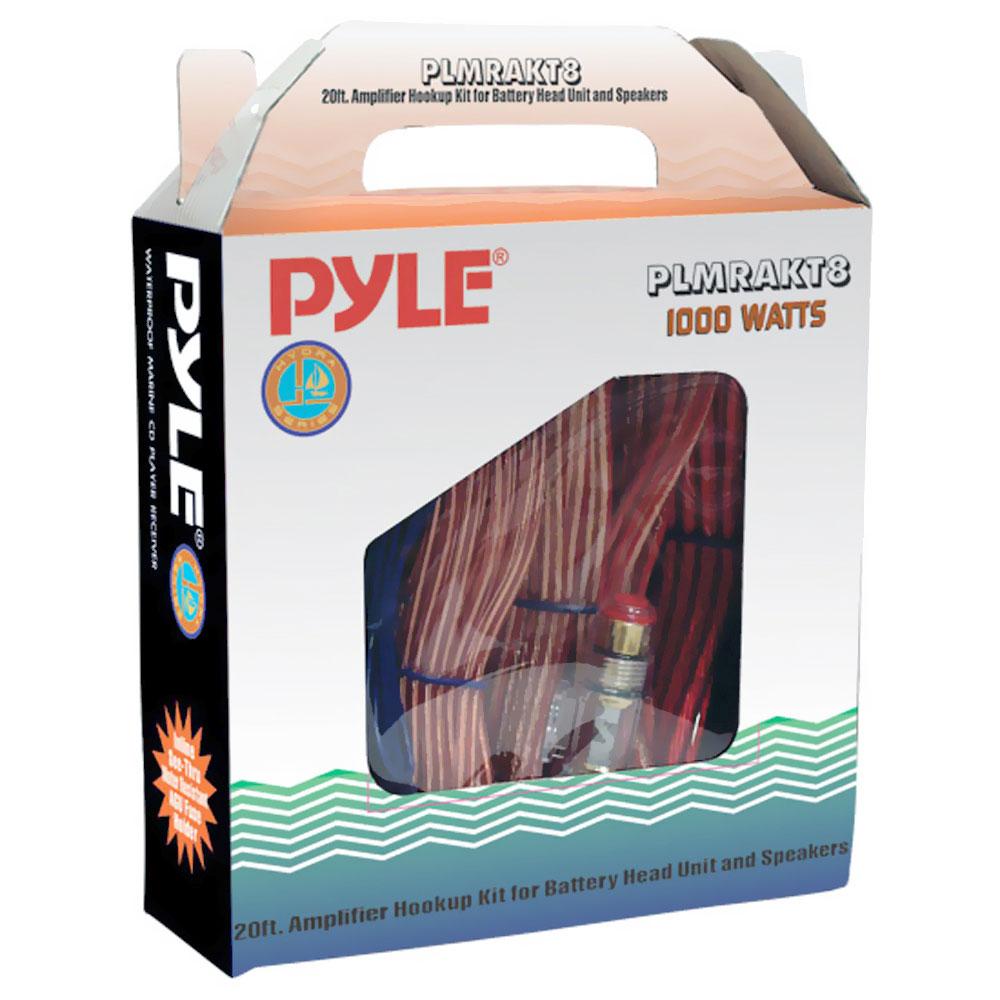 Pyle Plmrakt8 Car Audio Wiring Kit 20ft 8 Gauge Power Wire 1000 Marine Battery Watt Amplifier Hookup For Head Unit Stereo Speaker Installation Sound System