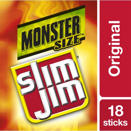 Slim Jim Monster Smoked Meat Stick, Original Flavor, 1.94 Oz.