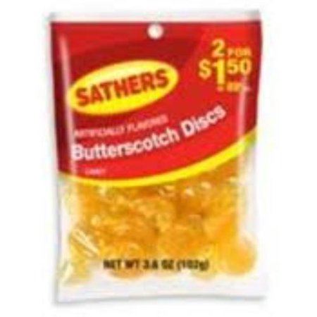 Sathers Butterscotch Disks 12 pack (3.6 oz per pack) (Pack of 2)