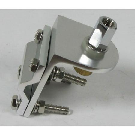Taurus Single Groove 3 way 4 BOLT aluminum mirror mount bracket w SO-239 stud