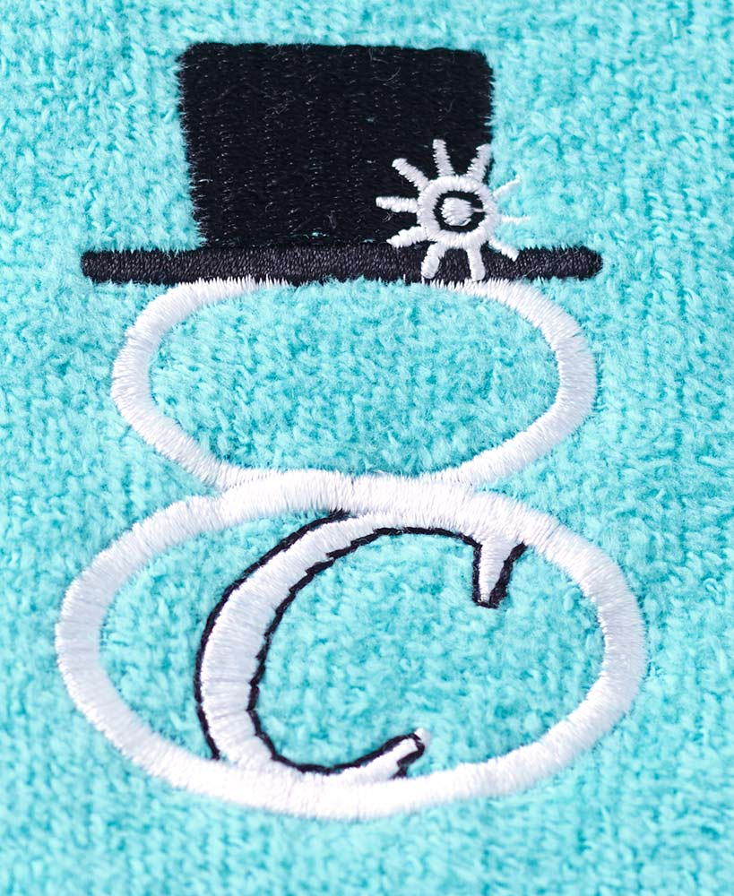Bath Towels colour choice Hand Personalised Monogram initial floral Face