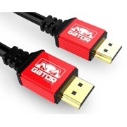 GATOR CABLE Ultra HD High Speed HDMI 2.0 Cable - Male to Male (A to A) - RED - 20 FT - Gold Plated Connectors - HDTV LED 3D 2160P 4K x 2k HDR PS4 BluRay