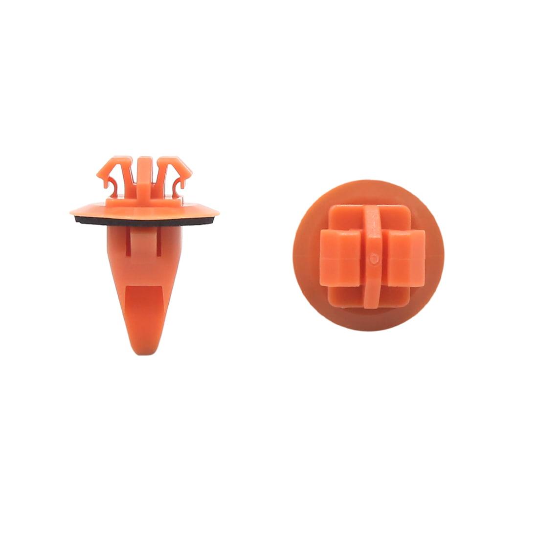 50Pcs Rivet Plastique Orange 11x8mm Clip Fixation Pare-Chocs Porte - image 2 de 2