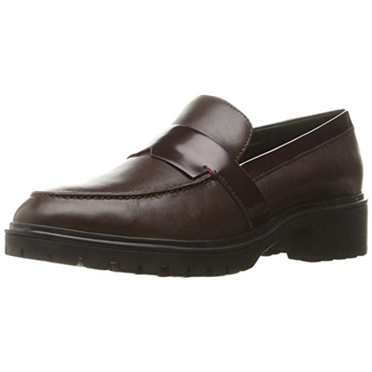 Geox Womens Peaceful Leather Slide Loafers