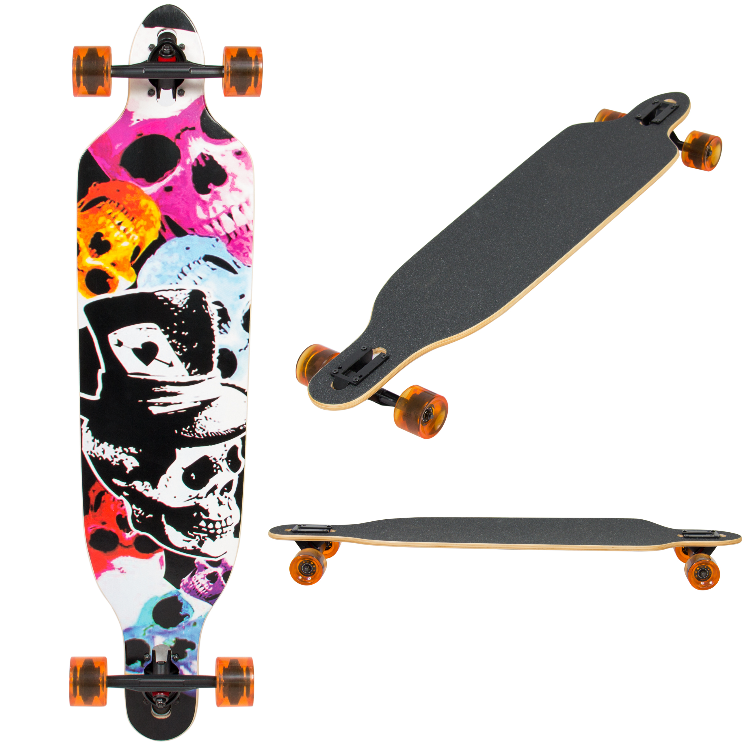 "Best Choice Products 41"" Pro Longboard Cruiser Cruising Skateboard Maple Deck"