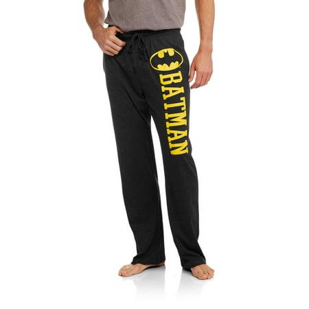 Dc Comics Mens Batman Dark Knight Logo Knit Sleep Pants
