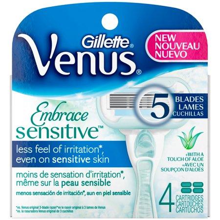 Gillette Venus Embrace Sensitive Women's Razor Blade Refills (Choose Count)