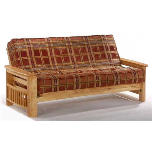 Natural Finish Futon Frame In Solid Wood (Standard Queen)