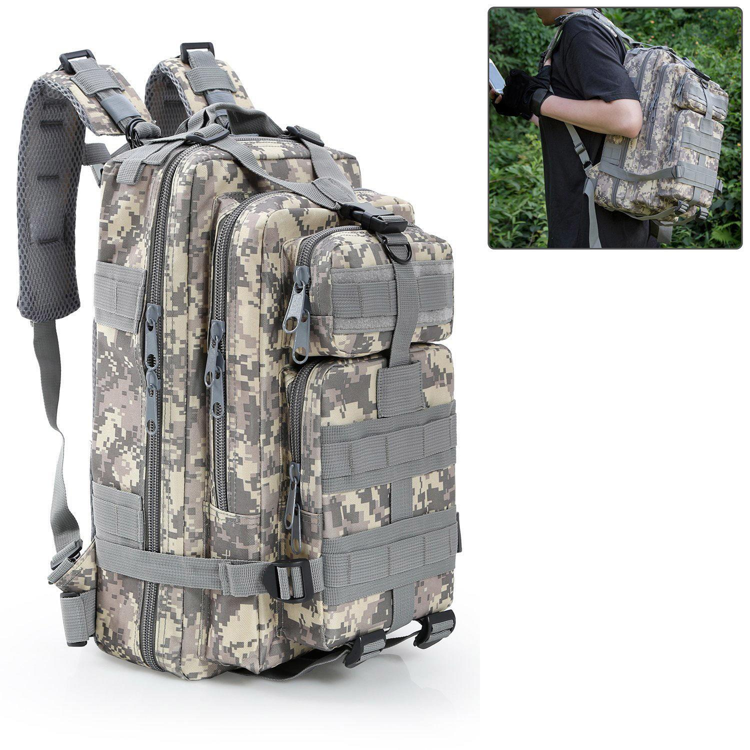 3P Tactical Outdoor Mountaineering Backpack Sports Camouflage Backpack Camping Hiking Trekking Climbing...