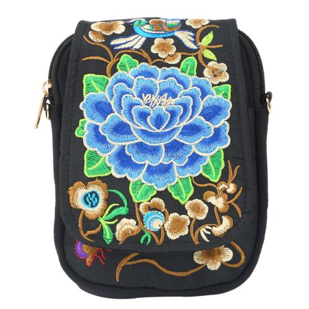2017 Fashionable Women National Style Canvas Mobile Phone Bag Casual Small  Size Coins Money Single Shoulder 9c27cc08c5574